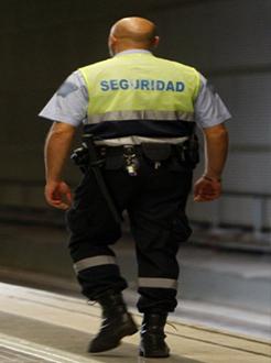 Vigilante de seguridad fuerte